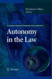 Autonomy in the Law by Mortimer Sellers