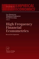 High Frequency Financial Econometrics by Luc Bauwens