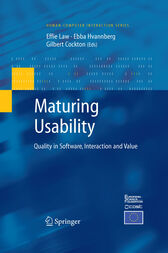 Maturing Usability by Effie Lai-Chong Law
