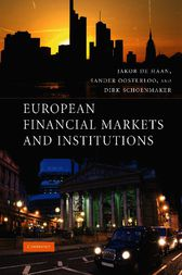 European Financial Markets and Institutions by Jakob de Haan