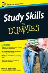 Study Skills For Dummies by Doreen du Boulay