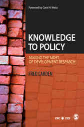 Knowledge to Policy by Fred Carden