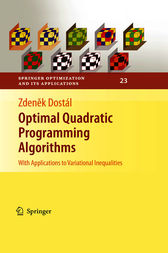 Optimal Quadratic Programming Algorithms by Zdenek Dostál