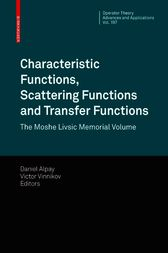 Characteristic Functions, Scattering Functions and Transfer Functions by Daniel Alpay