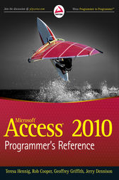 Access 2010 Programmer's Reference by Teresa Hennig