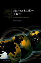 Vicarious Liability in Tort by Paula Giliker