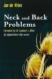 Neck and Back Problems by Jan de Vries
