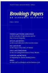 Brookings Papers on Economic Activity: Fall 2010 by David Romer
