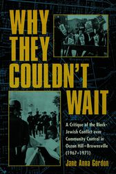 Why They Couldn't Wait by Jane Anna Gordon
