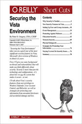 Securing the Vista Environment by Peter Gregory