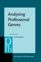 Analysing Professional Genres by Anna Trosborg