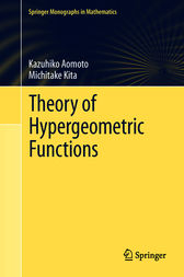 Theory of Hypergeometric Functions by Kazuhiko Aomoto