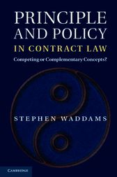 Principle and Policy in Contract Law by Stephen Waddams