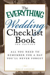 The Everything Wedding Checklist Book by Lefevre Holly