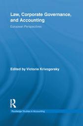 Law, Corporate Governance and Accounting by Victoria Krivogorsky