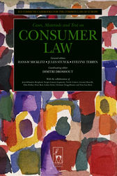 Consumer Law by Hans-W Micklitz