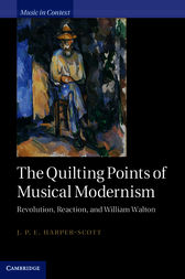 The Quilting Points of Musical Modernism by J. P. E. Harper-Scott