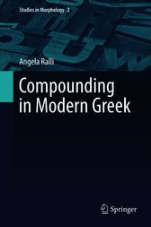 Compounding in Modern Greek by Angela Ralli