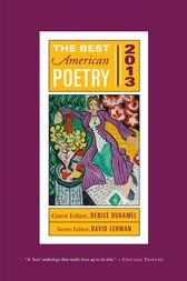 The Best American Poetry 2013 by David Lehman