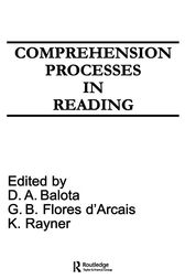 Comprehension Processes in Reading by David A. Balota