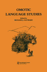 Omotic Language Studies by R. J. Hayward