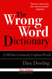 Wrong Word Dictionary by Dave Dowling