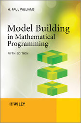 Model Building in Mathematical Programming by H. Paul Williams
