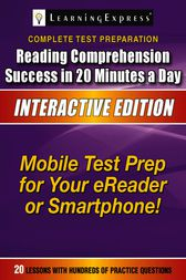 Reading Comprehension Success in 20 Minutes a Day by Learning Express Llc