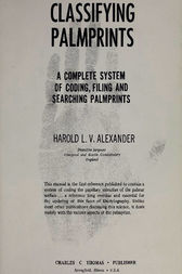 Classifying Palmprints by Harold Alexander