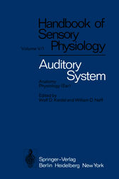 Auditory System by H. W. Ades