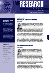 IMF Research Bulletin, December 2008 by International Monetary Fund. Research Dept.