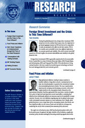 IMF Research Bulletin, March 2012 by International Monetary Fund. Research Dept.