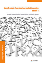 Major Trends in Theoretical and Applied Linguistics 3 by Nikolaos Lavidas