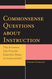 Commonsense Questions about Instruction by Gerard Giordano