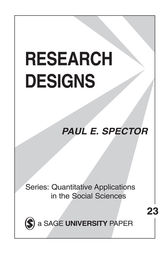 Research Designs by Paul E. Spector