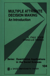 Multiple Attribute Decision Making by K . Paul Yoon