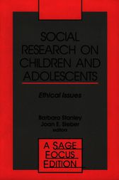 Social Research on Children and Adolescents by Barbara Stanley