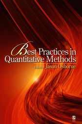 Best Practices in Quantitative Methods by Jason W. Osborne