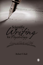 Scientific Writing for Psychology by Robert V. Kail