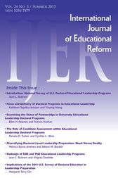 IJER Vol 24-N3 by International Journal of Educational Reform