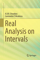 Real Analysis on Intervals by A. D. R. Choudary