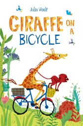 Giraffe on a Bicycle by Julia Woolf