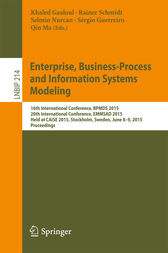 Enterprise, Business-Process and Information Systems Modeling by Khaled Gaaloul