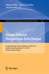 Design Science: Perspectives from Europe by Markus Helfert