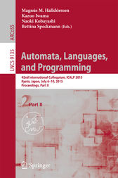 Automata, Languages, and Programming by Magnús M. Halldórsson