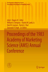 Proceedings of the 1983 Academy of Marketing Science (AMS) Annual Conference by John C. Rogers III