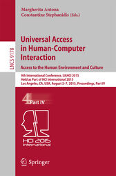 Universal Access in Human-Computer Interaction.Access to the Human Environment and Culture by Margherita Antona