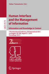 Human Interface and the Management of Information. Information and Knowledge in Context by Sakae Yamamoto