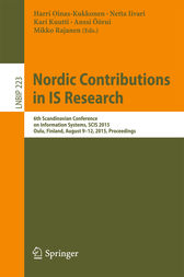 Nordic Contributions in IS Research by Harri Oinas-Kukkonen