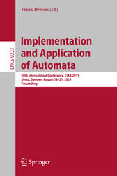 Implementation and Application of Automata by Frank Drewes
